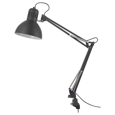 TERTIAL مصباح مكتب, رمادي غامق