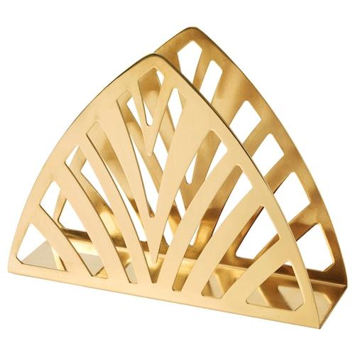TILLSTÄLLNING napkin holder brass-colour 19 cm 5.5 cm 14 cm