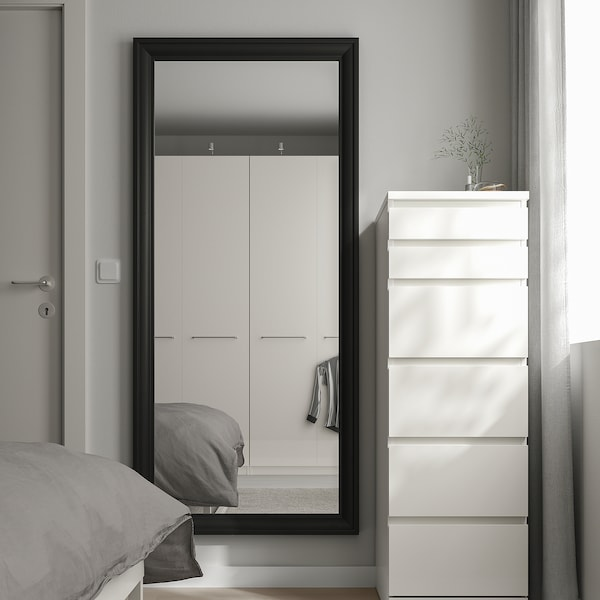 TOFTBYN Mirror, black, 75x165 cm