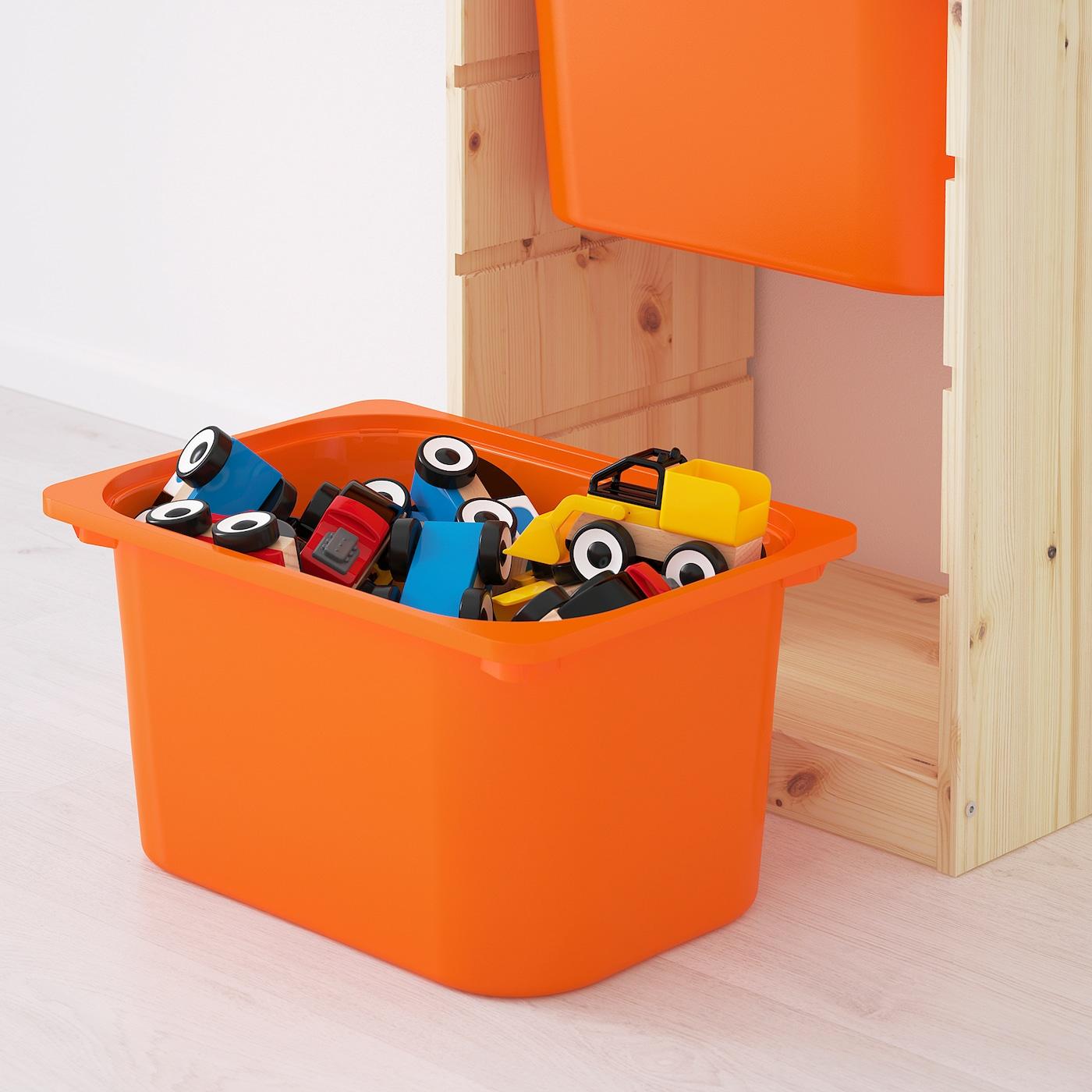 2x IKEA Orange TROFAST Storage Boxes To Fit TROFAST Units 42 x 30 x 23 cm lids