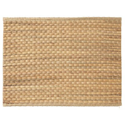 UNDERLAG Place mat, water hyacinth/natural, 35x45 cm