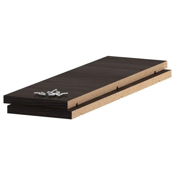 UTRUSTA رف, مظهر الخشب أسود, 20x60 سم