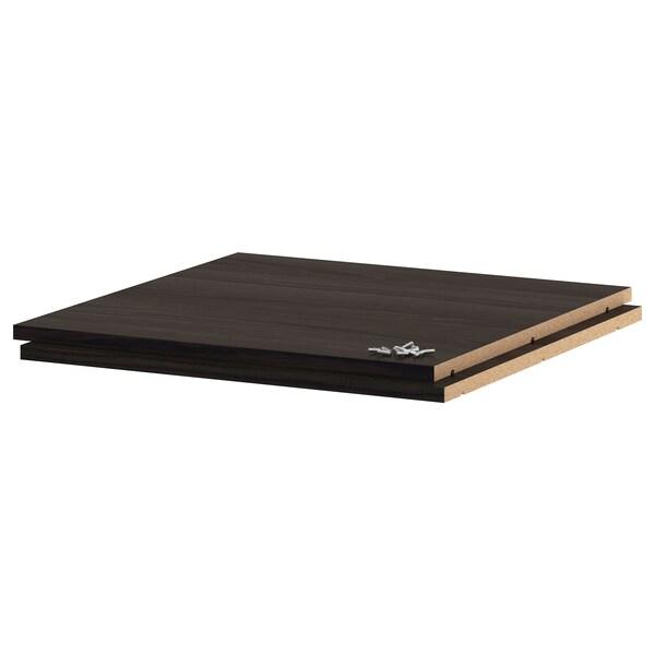UTRUSTA رف, مظهر الخشب أسود, 60x60 سم