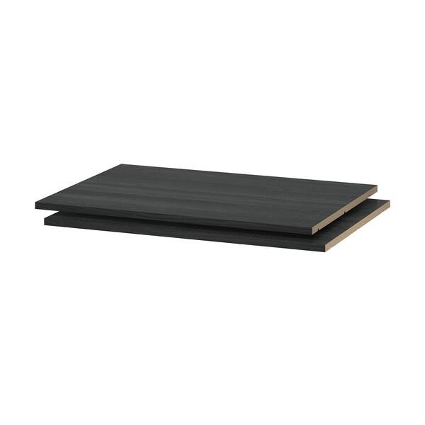 UTRUSTA رف, مظهر الخشب أسود, 80x60 سم