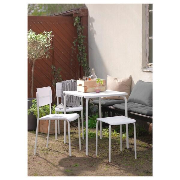 VÄDDÖ Table, outdoor, white, 58x74 cm