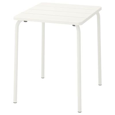 VÄDDÖ طاولة، خارجية, أبيض, 58x74 سم