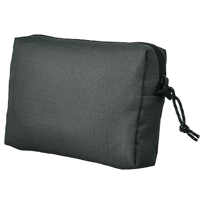 VÄRLDENS Accessory bag, dark grey/medium, 16x4x11 cm