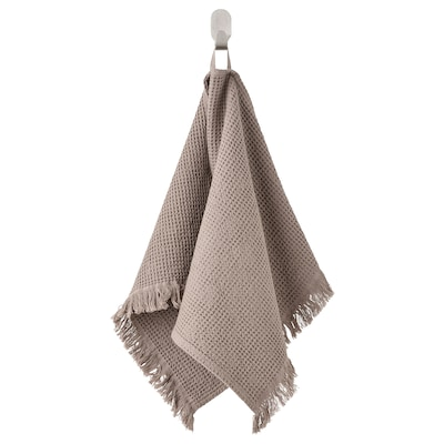 VALLASÅN Hand towel, light grey/brown, 40x70 cm