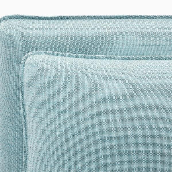 VALLENTUNA 2-seat modular sofa with sofa-bed, and storage/Hillared light blue