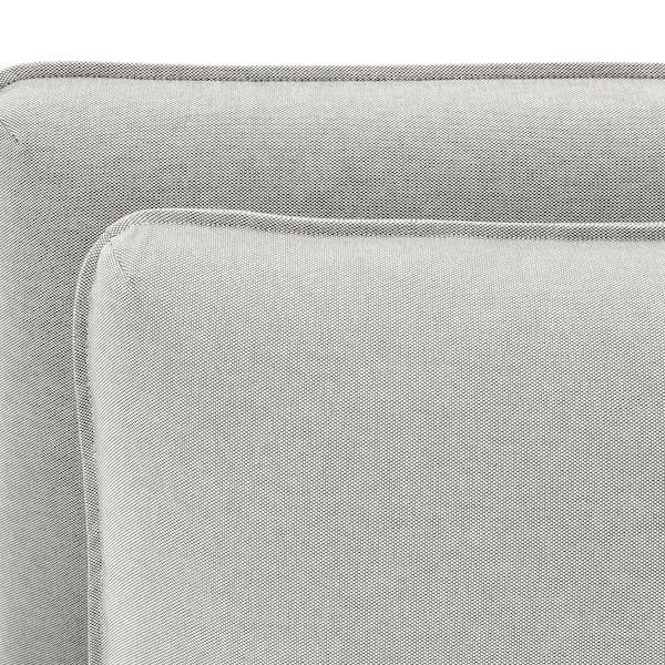 VALLENTUNA 2-seat modular sofa with sofa-bed, and storage/Orrsta light grey