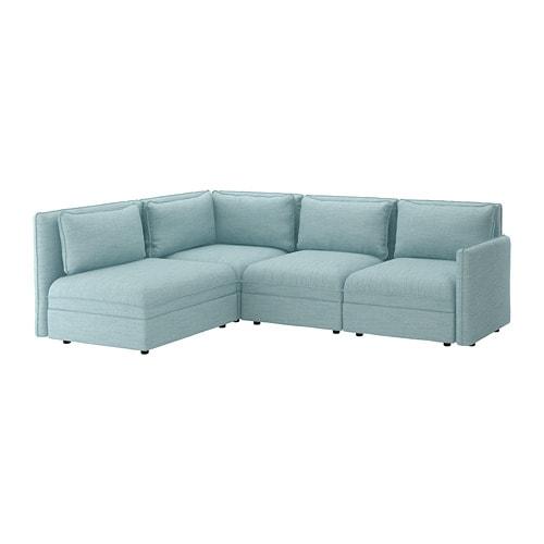 Vallentuna Modular Corner Sofa 3 Seat With Storage Hillared Light