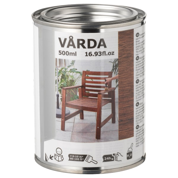 VÅRDA Wood stain, outdoor use, brown