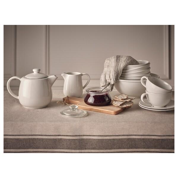 VARDAGEN Teapot, off-white, 1.2 l