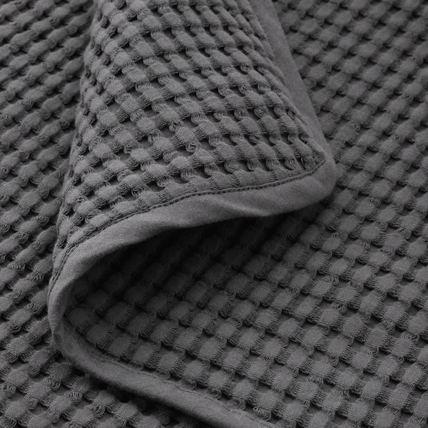 VÅRELD غطاء سرير, رمادي غامق, 230x250 سم
