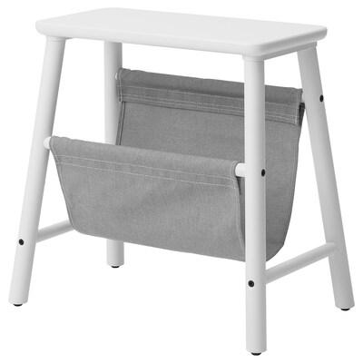 VILTO Storage stool, white, 45 cm
