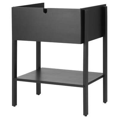 VILTO Wash-stand with 1 drawer, black