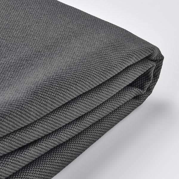 VIMLE غطاء كنبة ثلاث مقاعد, مع مسند للرأس/Hallarp رمادي