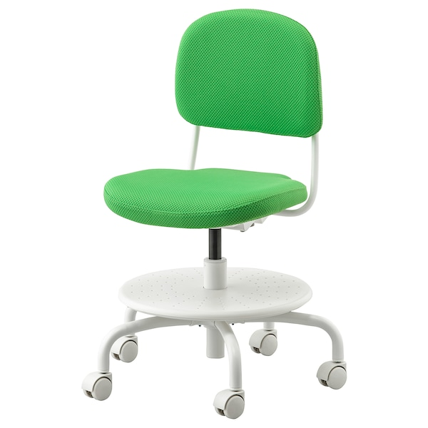 VIMUND كرسي مكتب أطفال, أخضر ساطع