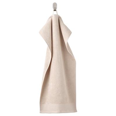 VINARN Hand towel, light grey/beige, 40x70 cm