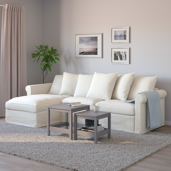 VINDUM سجاد، وبر طويل, أبيض, 133x180 سم