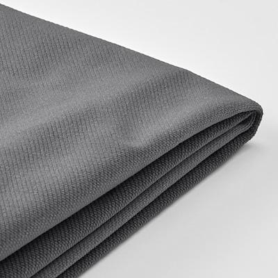 VINLIDEN غطاء كنبة ثلاث مقاعد, مع أريكة طويلة/Hakebo رمادي غامق