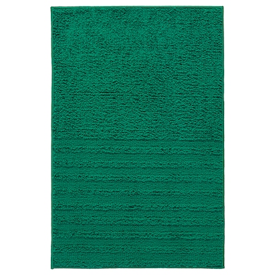 VINNFAR Bath mat, dark green, 40x60 cm