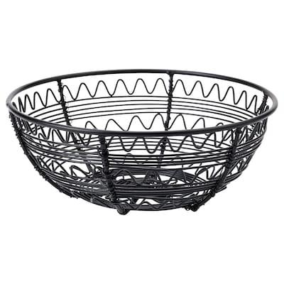 VINTER 2021 Basket, handmade black, 20 cm
