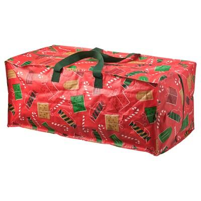 VINTER 2021 Storage bag, Christmas pattern red, 35x73x30 cm/76 l