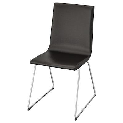 VOLFGANG كرسي, طلاء كروم/Bomstad أسود