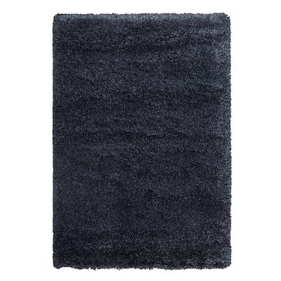 VOLLERSLEV Rug, high pile, dark blue, 200x300 cm