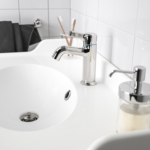 VOXNAN Wash-basin mixer tap with strainer   10 year guarantee.   Read about the terms in the guarantee brochure.