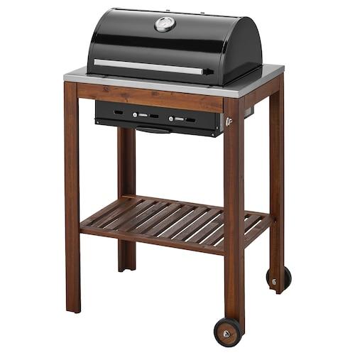 ÄPPLARÖ / KLASEN charcoal barbecue brown stained 77 cm 58 cm 109 cm