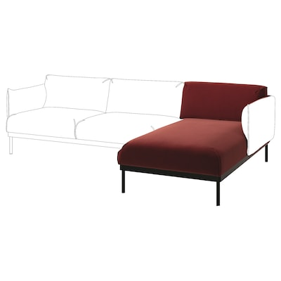 ÄPPLARYD Chaise longue section, Djuparp red-brown