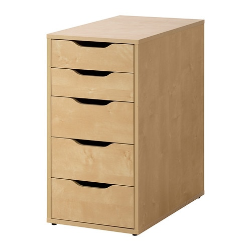 Alex Drawer Unit Birch Effect Ikea
