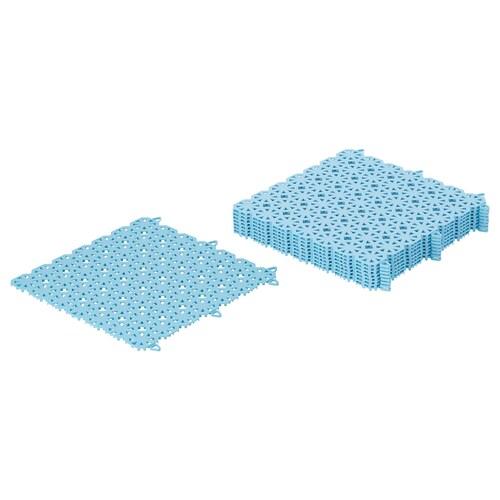 ALTAPPEN floor decking, outdoor light blue 0.81 m² 30 cm 30 cm 0.6 cm 0.09 m² 9 pack