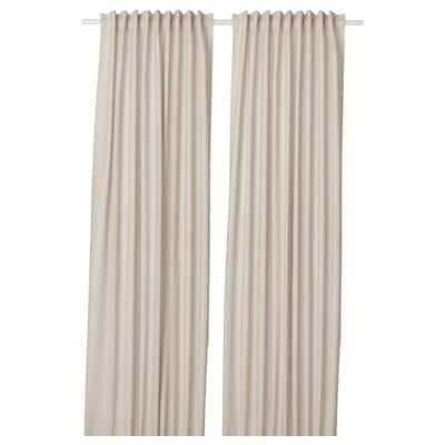 ANNALOUISA Curtains, 1 pair, beige, 145x250 cm