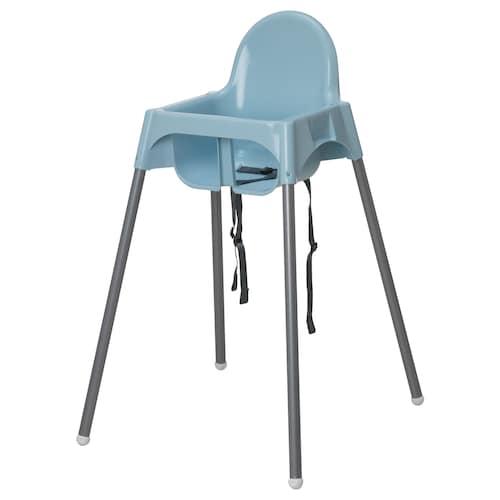 ANTILOP highchair with safety belt light blue/silver-colour 56 cm 59 cm 90 cm 25 cm 22 cm 54 cm 15 kg