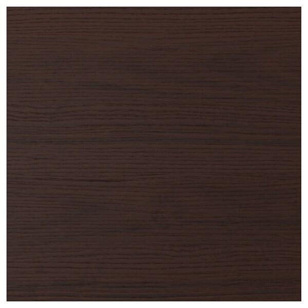 ASKERSUND Door, dark brown ash effect, 40x40 cm