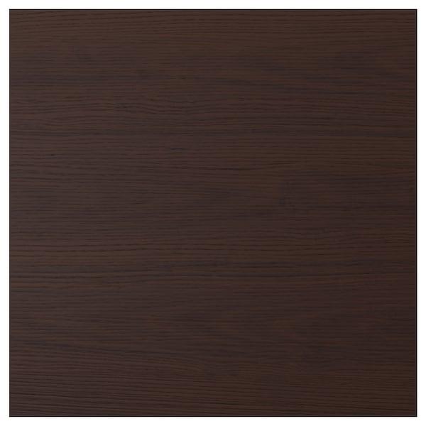 ASKERSUND Door, dark brown ash effect, 60x60 cm