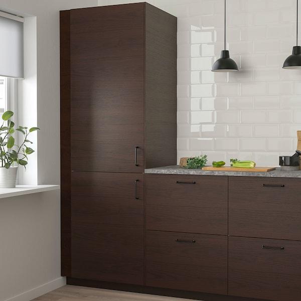 ASKERSUND Door, dark brown ash effect, 60x140 cm