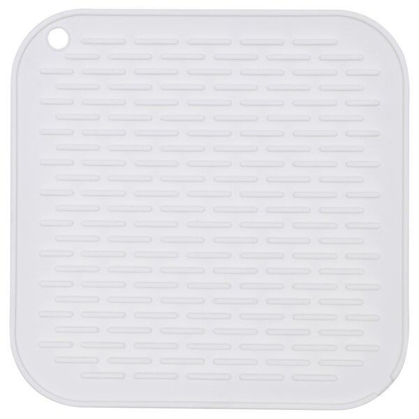BARSELE Dish drainer, silicone/white