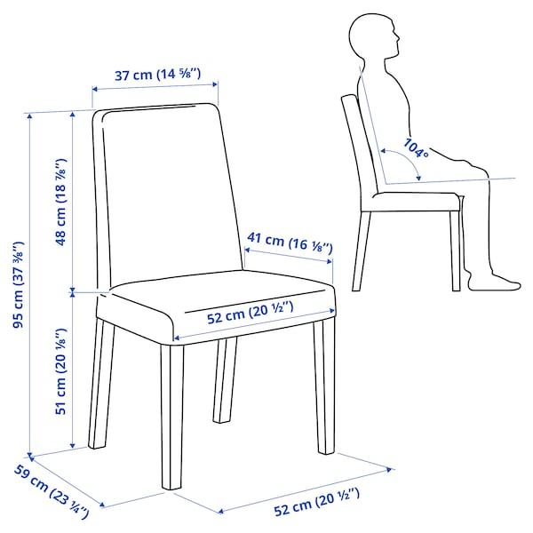 BERGMUND Chair, oak/Hallarp beige
