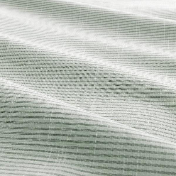 BERGPALM Duvet cover and 2 pillowcases, green/stripe, 200x200/50x60 cm