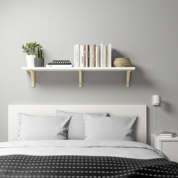 BERGSHULT / SANDSHULT wall shelf white/aspen 120 cm 30 cm