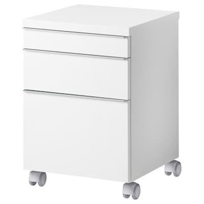 BESTÅ BURS Drawer unit on castors, high-gloss white, 40x40 cm