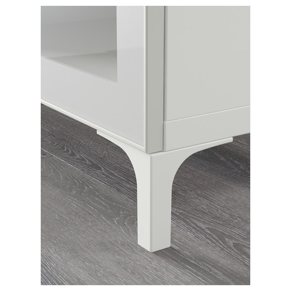 BESTÅ TV bench white/Selsviken high-gloss/white clear glass 180 cm 42 cm 48 cm 50 kg