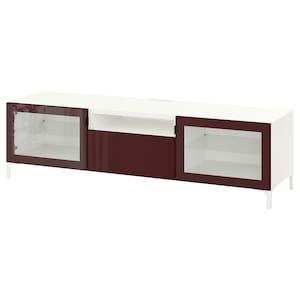Colour: White selsviken/nannarp/high-gloss dark red-brown.