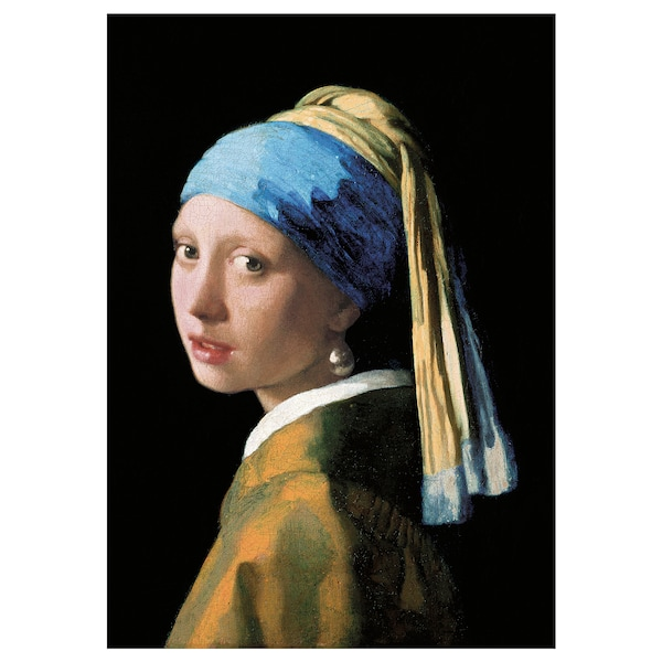 BJÖRKSTA Picture, Girl with a Pearl Earring, 78x118 cm