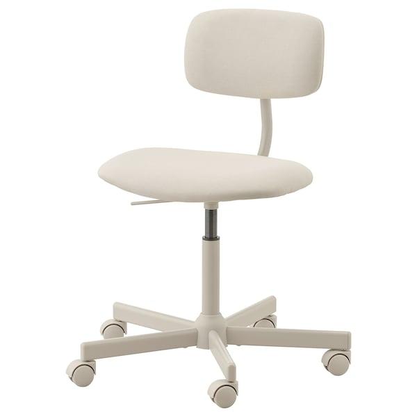 BLECKBERGET Swivel chair, Idekulla beige