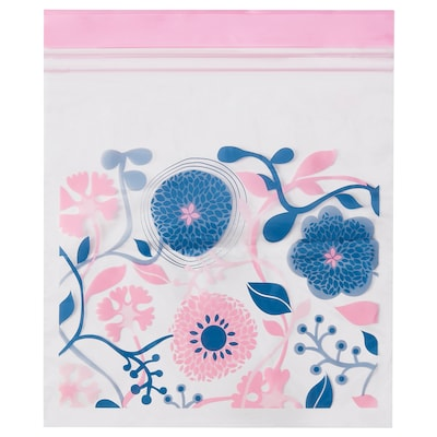 BLOMBUKETT Resealable bag, pink